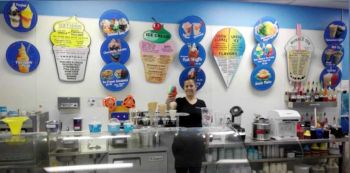 Frozen cafe in San Ramon, CA
