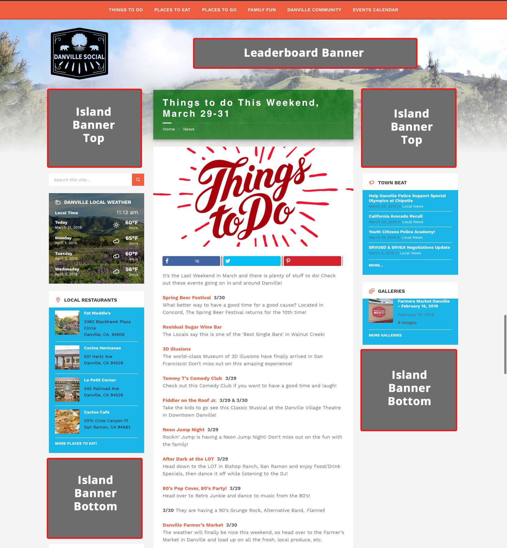 Advertise Your Business with Danville Social