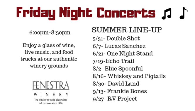 Fenestra Winery Friday Night Concerts